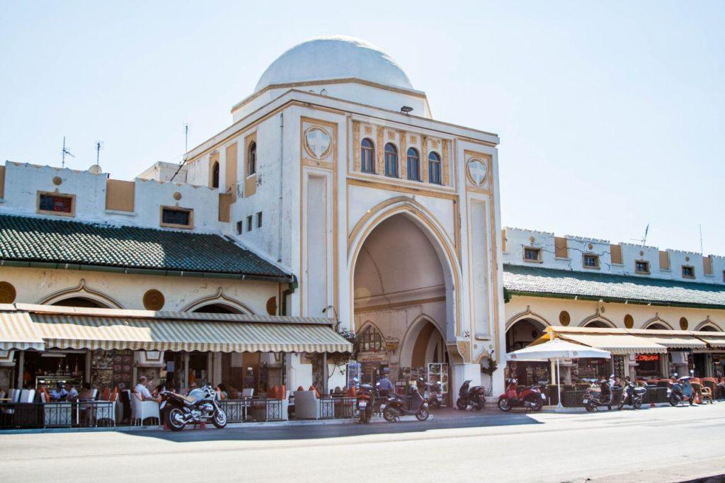 The New Market Hall in Rhodes is a great place to go for a snack or do some shopping.