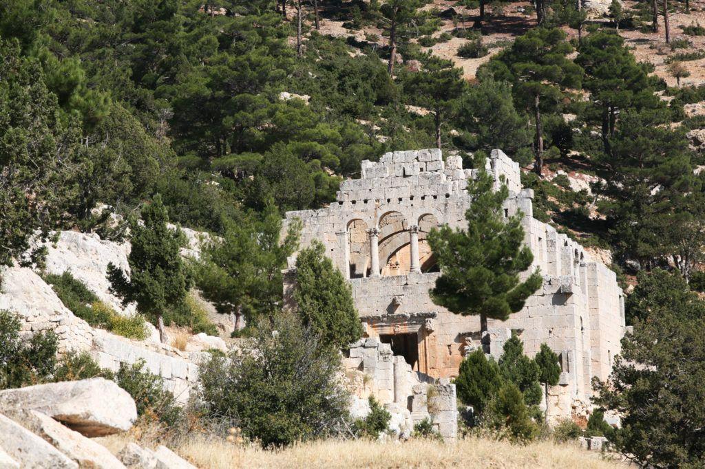 Approach to Alahan Monastery.