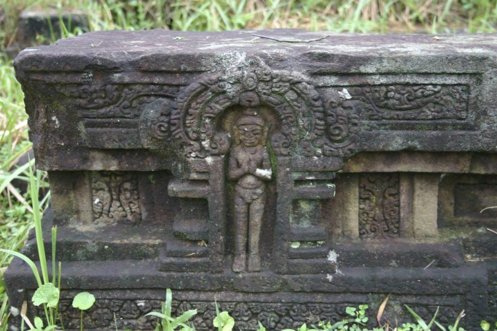 Carved stone in a Hue temple.