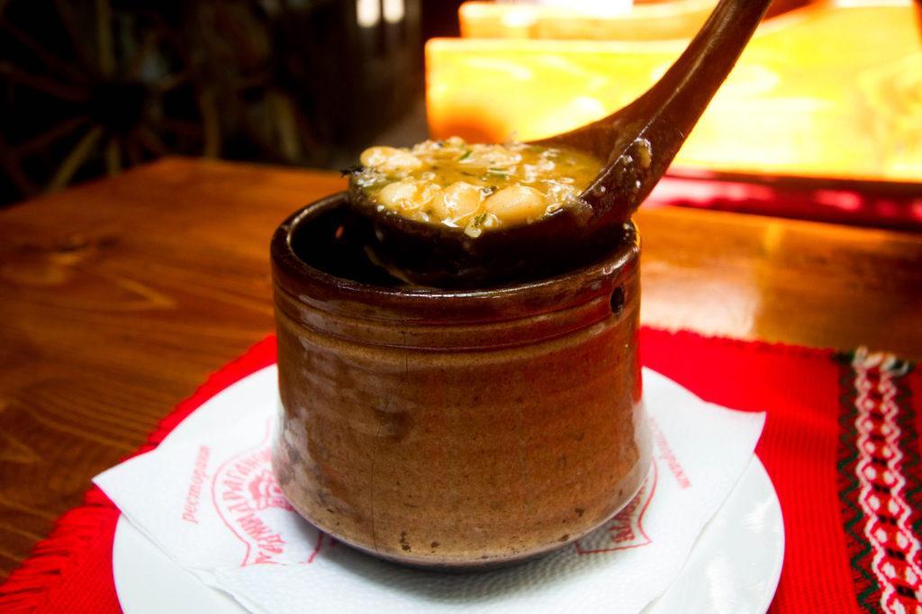 Bob Chorma or white bean soup.