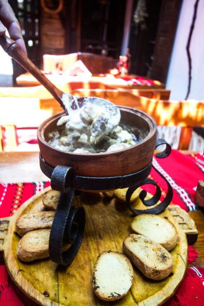 Katino Meze or pork stew with cheese. A traditional dish that should be part of any Bulgarian food guide.
