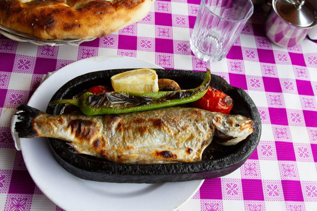 Mencheva Kashta or grilled trout can be found in many places in the country. Our favorite was at a restaurant behind the Rila Monastery.