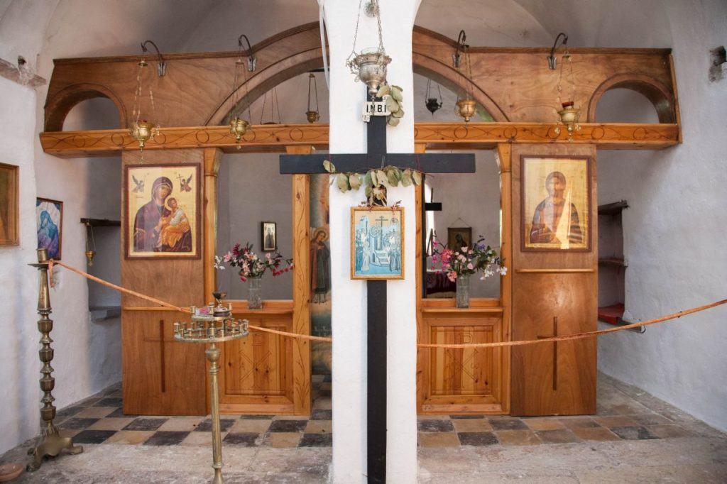 Confessional in Nea Moni Monastery.
