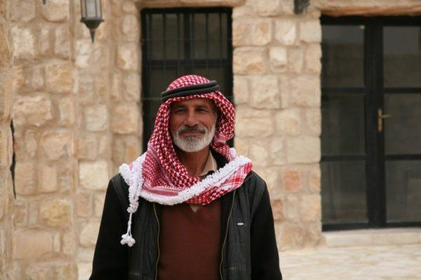 A Jordanian castle guard.