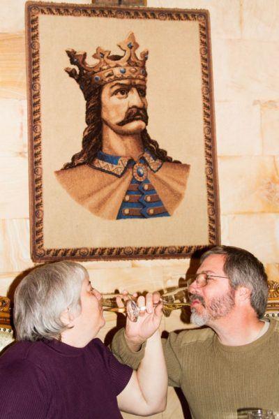 Our toast in Milestii Mici.