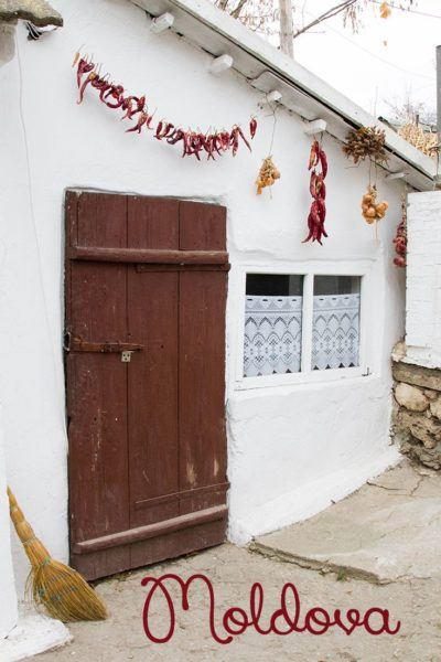 Moldova doorway with chili peppers.