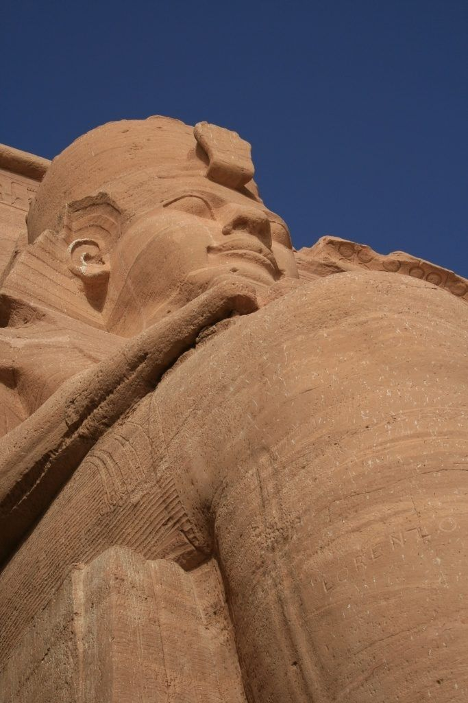 Massive sculpture at World Heritage Site - Abu Simbel, Egypt.