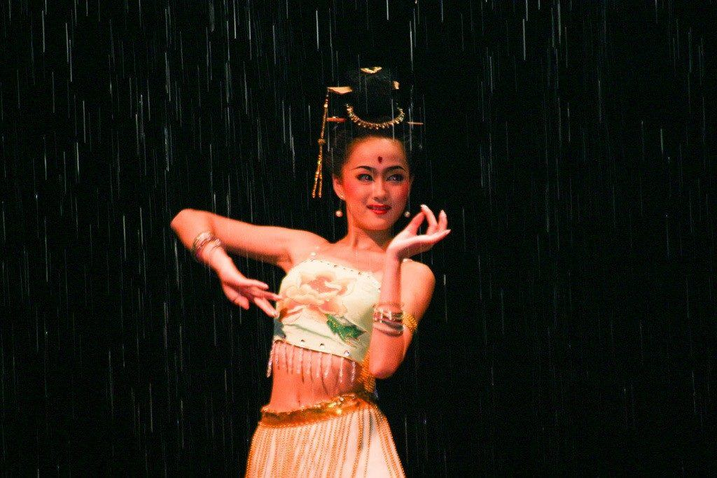 Wondering where to eat and what to do in Xian? Our first night we watched this amazing Tang Dynasty Show...real water falls on stage. We loved it.