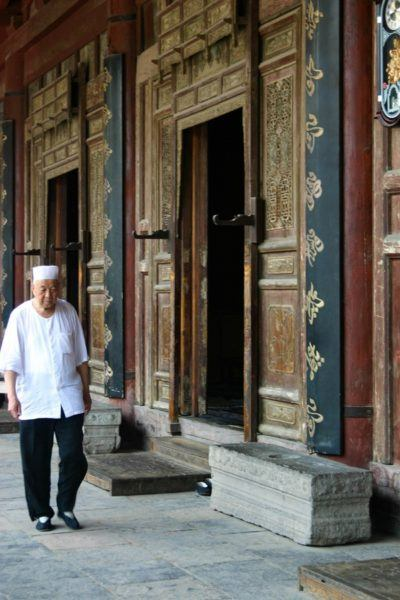 Intricate doors adorn the Grand Mosque, a must-see Xian Tourist Attraction.
