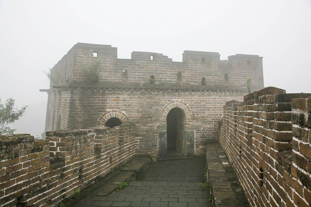 Austere and Silent sits the sentry of the Great Wall of China in winter.
