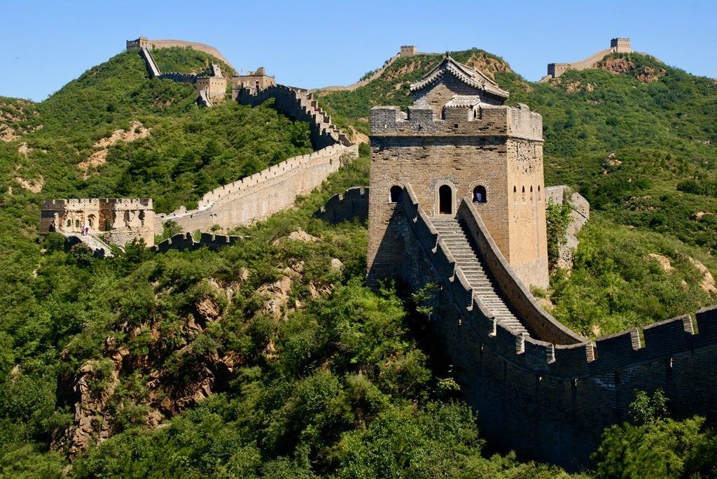 Great Wall and its sentry towers.