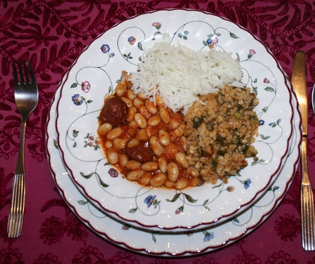 Turkish white beans.