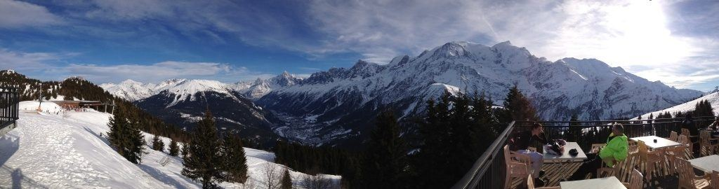 View from the top of the ski run on Mont Blanc.