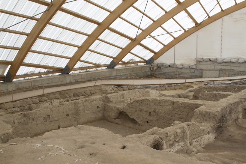 UNESCO paid for the archaeological site to be covered for protection.