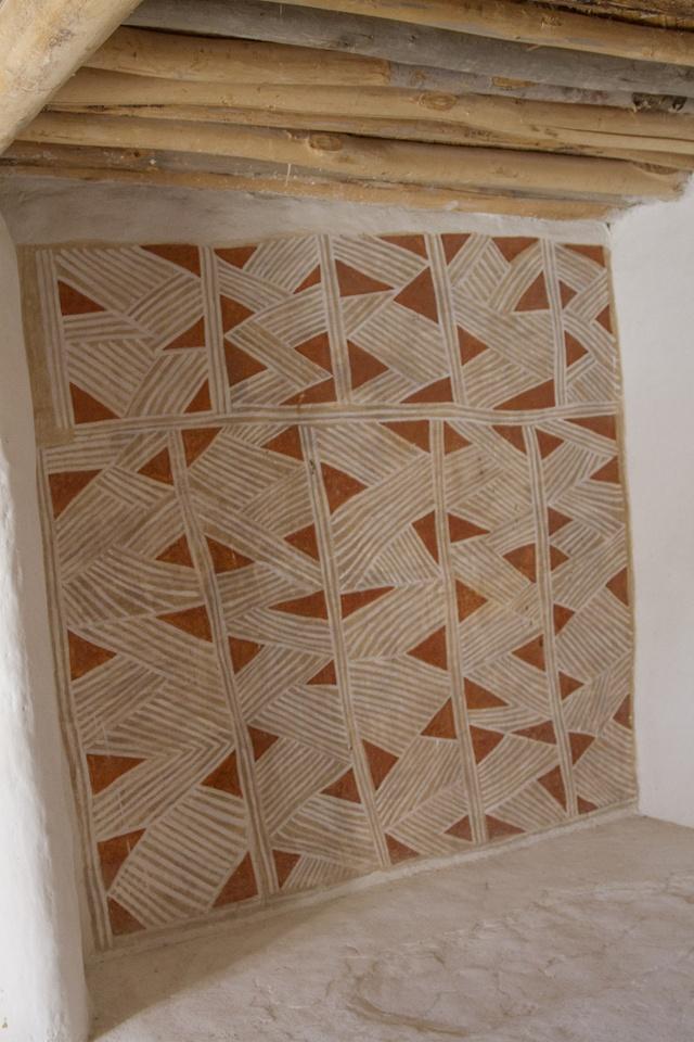 Fresco inside Catalhoyuk house.