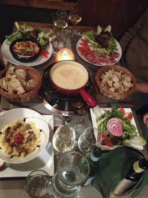 Fondue and Savoyarde Food in Mont Blanc.