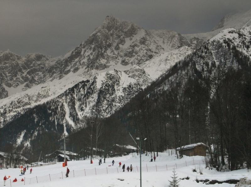 Sledding on Mont Blanc.