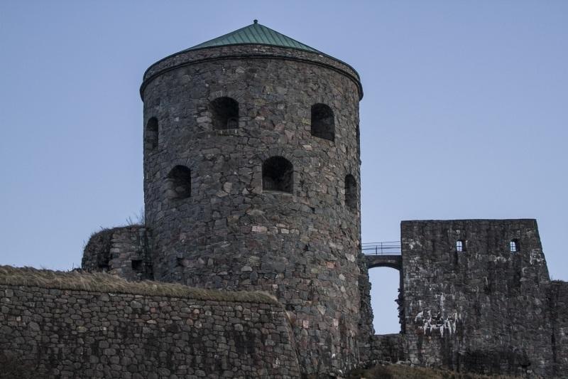 The impressive castle ruins of Bohus Fastening, Sweden.