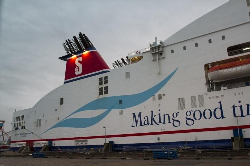 Stena Line ferry to Gothenburg at the dock in Kiel.