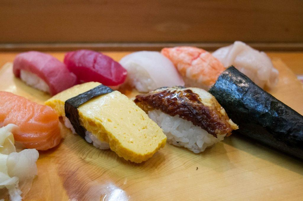 The best sushi at Tsukiji Fish Market...a special breakfast sold each morning.