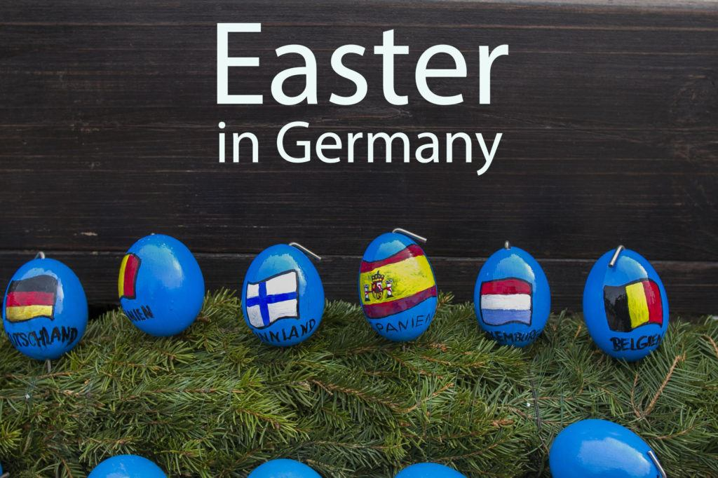 Easter in Germany and Decorated Franconian Easter Fountains