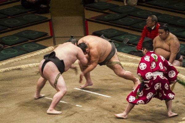 Sumo wresting in Japan.