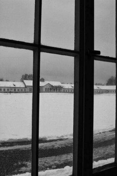 This picture shows the bleakness of Dachau.