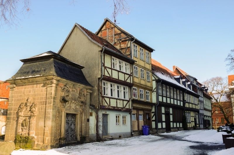 Quedlinburg is a small medieval town in the Harz Mountains in Germany.