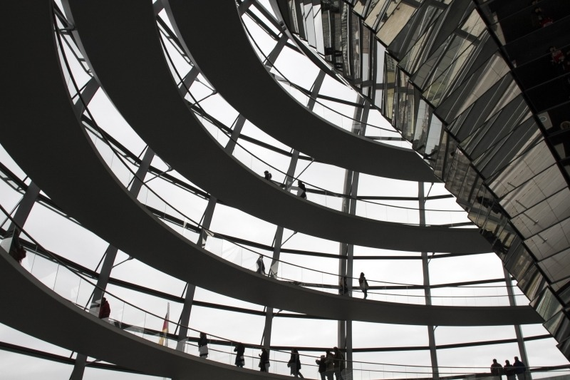 The historic Reichstag building in Berlin houses the Bundestag, the German Federal Parliament.