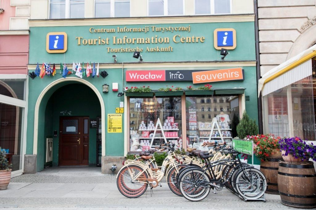 Information Center in Wroclaw is right on the main square in the old town
