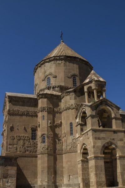 Armenian Cathedral on Akdamar Island on Lake Van.