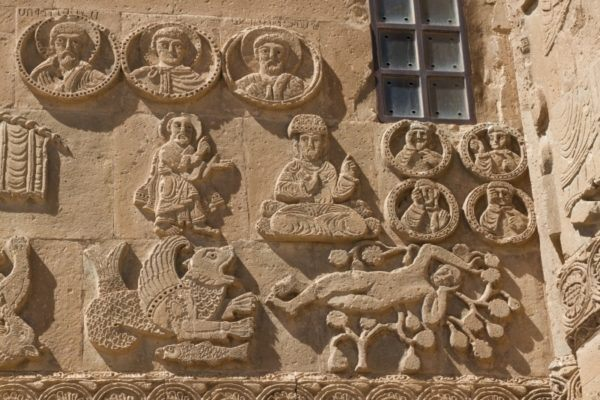 Intricate carvings adorn the Armenian Cathedral on Lake Van.