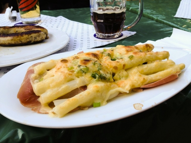 Spargel or White Asparagus Open-faced Sandwich
