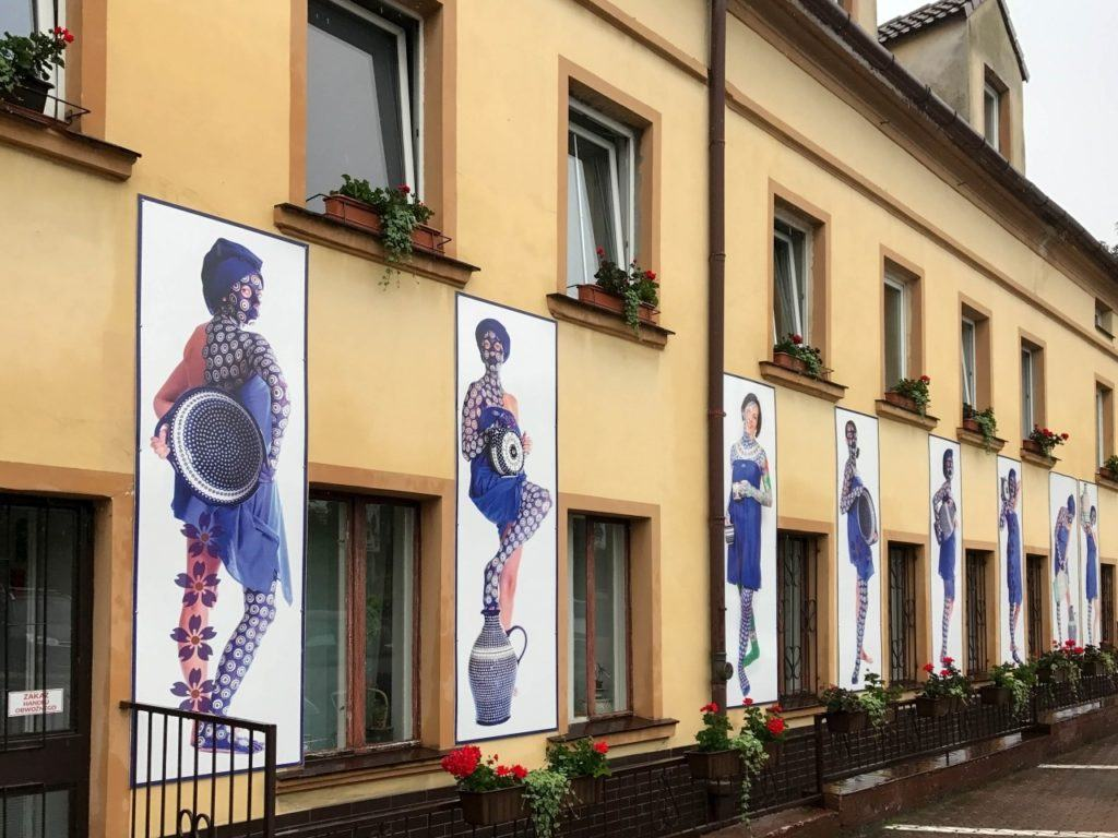 Polish pottery factory shop in Boleslawiec, Poland.