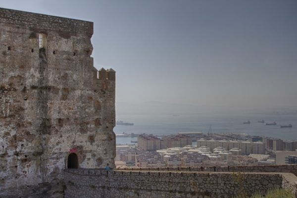 The Moorish castle entrance on The Rock of Gibraltar.