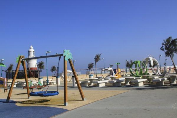 Gibraltar playground near lighthouse at Europa Point.