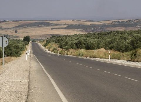 Spain is a large country with plenty of roads to travel.