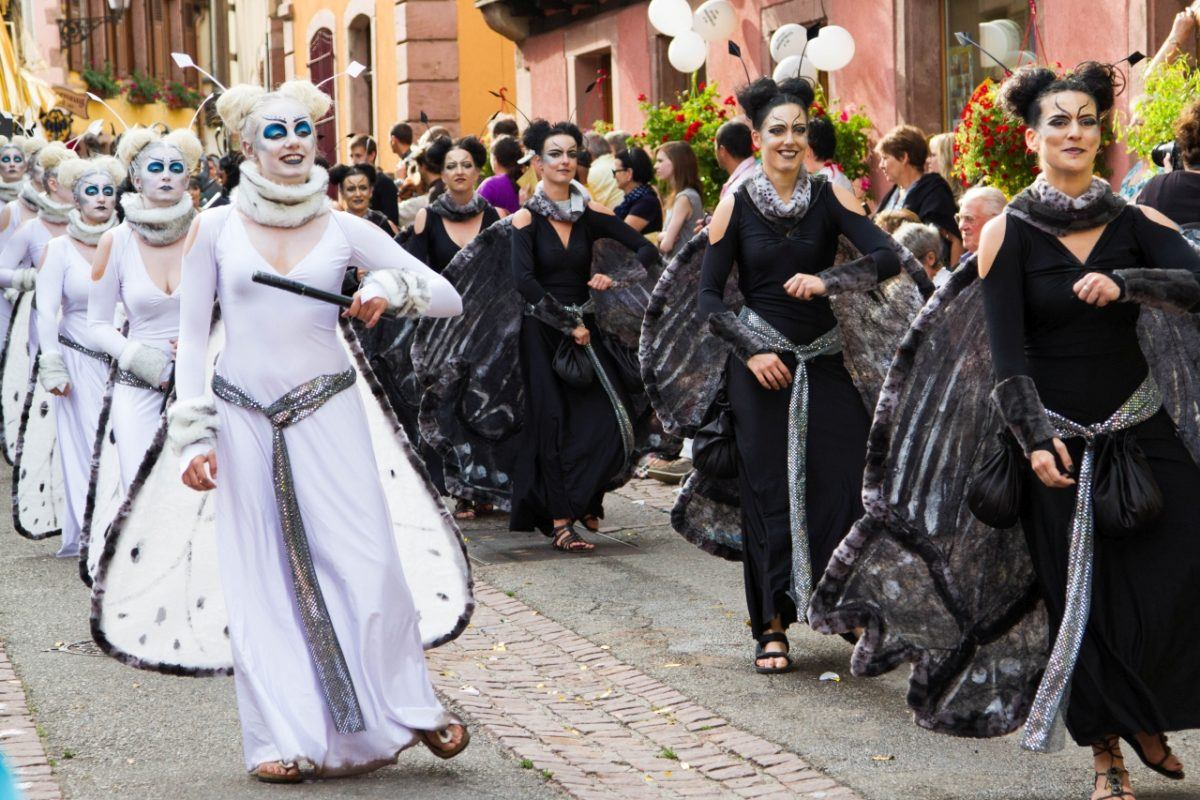 Ribeauville, France hosts a medieval festival and parade, which is fun for the whole family.