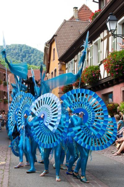 The Ribeauville parade is colorful and has really elaborate costumes.