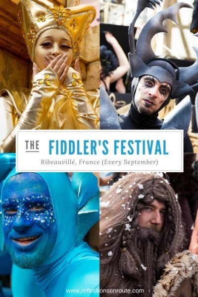 Costumed players made the Ribeauville Fiddler's Fest parade the best it can be.