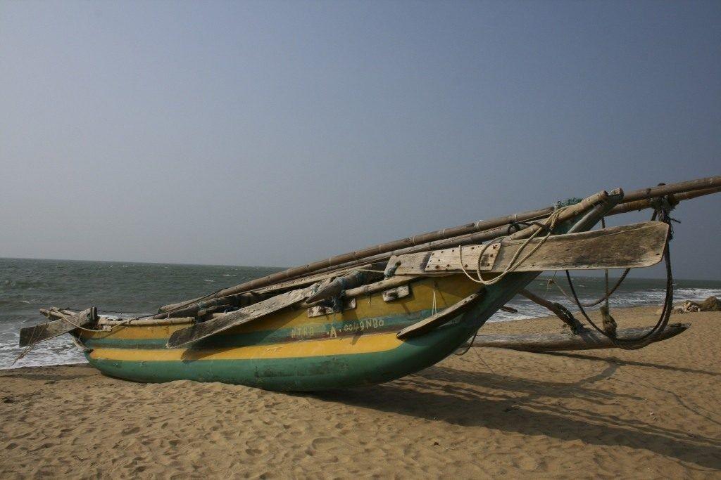 Sri Lanka beached boat.