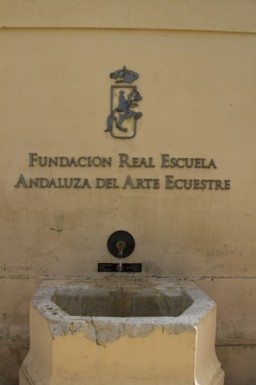 A water fountain at the riding school.