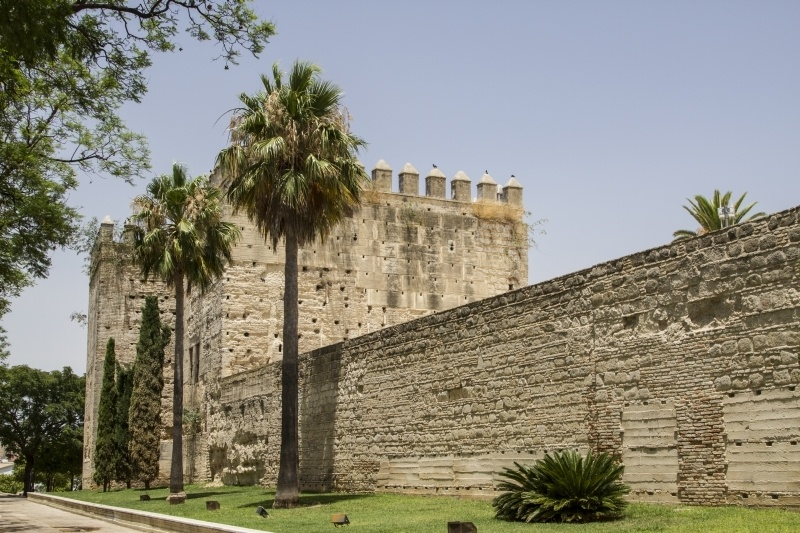 Stone walls surround Jerez.