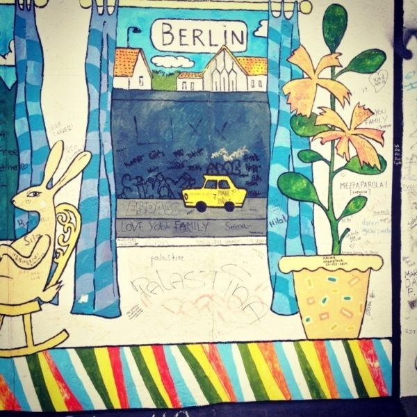 Berlin Wall Gallery Mural.