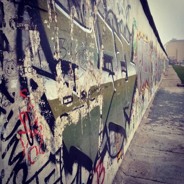 View of the Berlin Wall at the east gallery