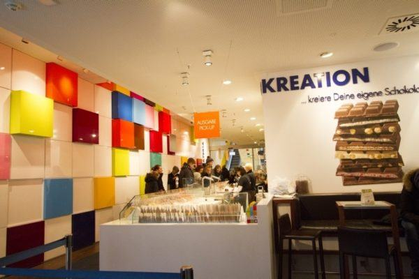 At the Creation factory, you can make your own Ritter Sport Chocolate bar.