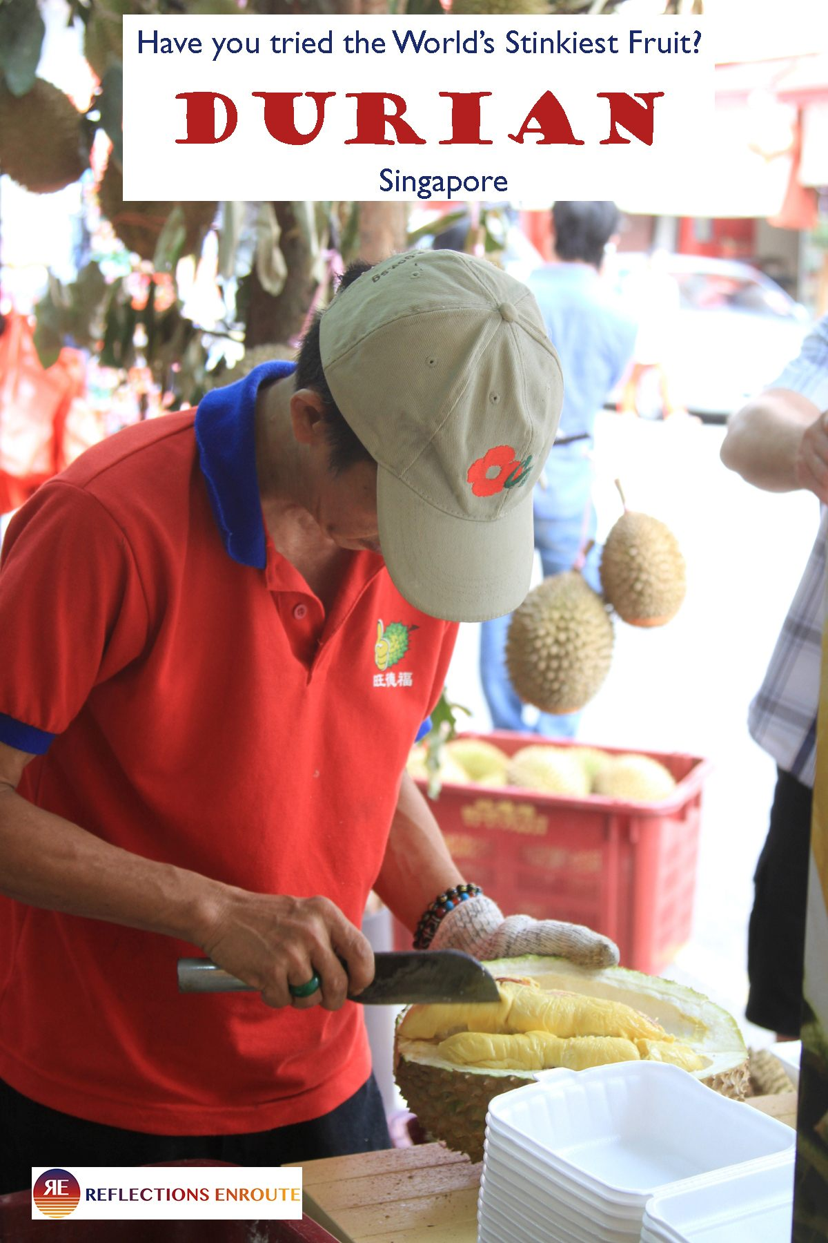 Do you love fresh fruit? How about trying new foods? Then when in Asia, you must try the King of Fruit - Durian! data-pin-url=