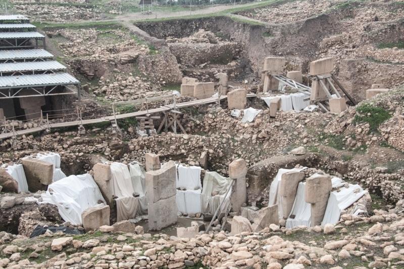 View down into Gobekli Tepe.