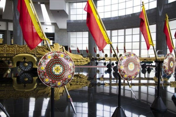 Color and pageantry inside the Royal Regalia Museum.