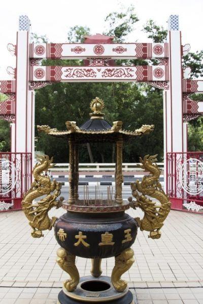 Dragon incense burner at a Chinese temple.